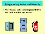 safeguarding assets and records