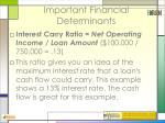 important financial determinants41
