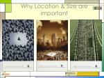 why location size are important