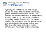 ptm equation