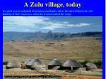 a zulu village today