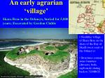 an early agrarian village
