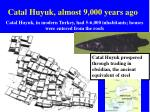 catal huyuk almost 9 000 years ago