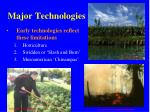 major technologies