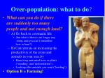 over population what to do