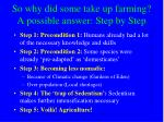 so why did some take up farming a possible answer step by step