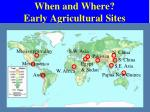 when and where early agricultural sites