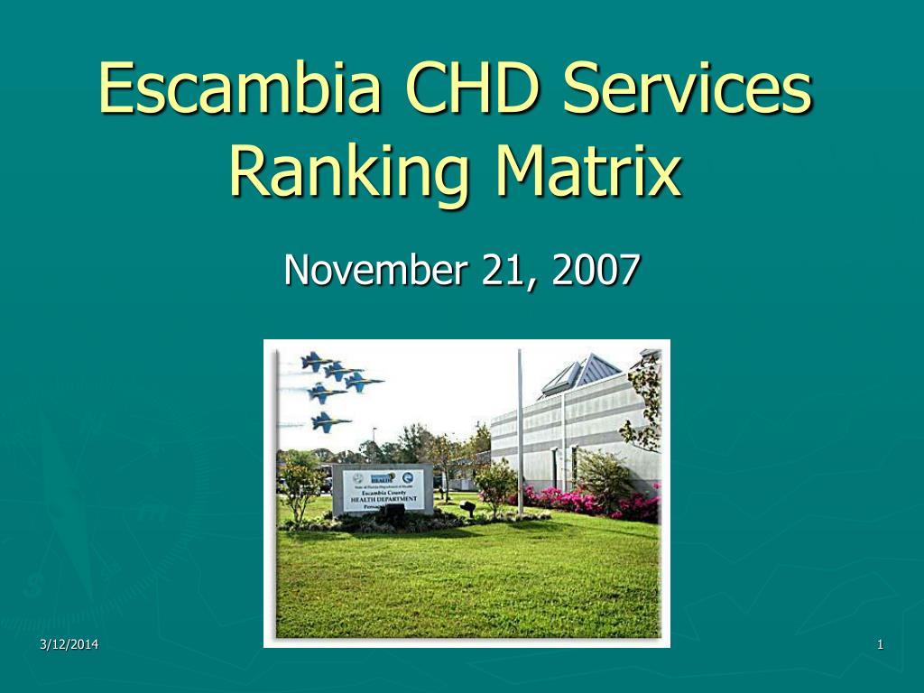 escambia chd services ranking matrix l.