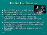 the ranking sessions