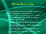fe clean energy group continued