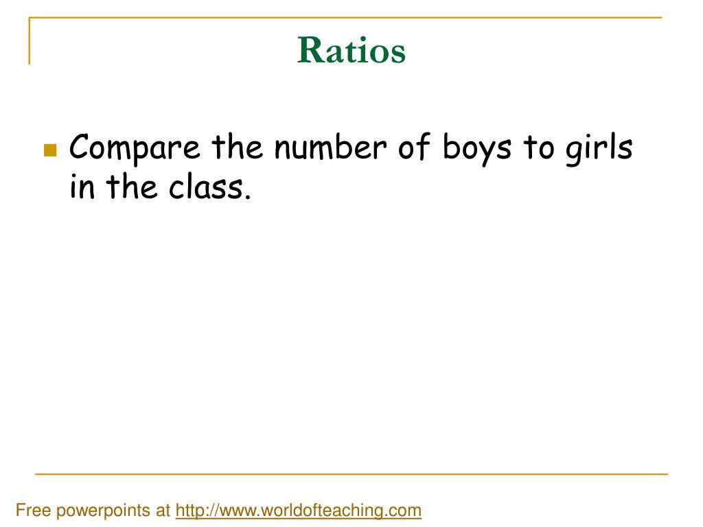 ratios l.