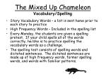 the mixed up chameleon vocabulary spelling