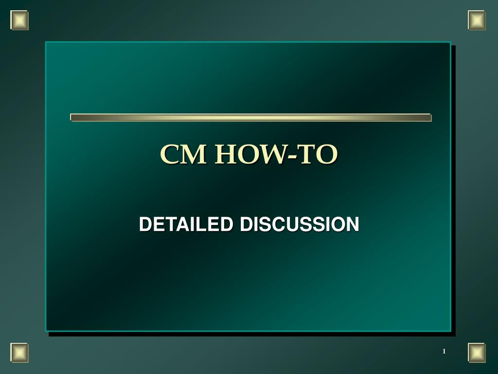 cm how to l.