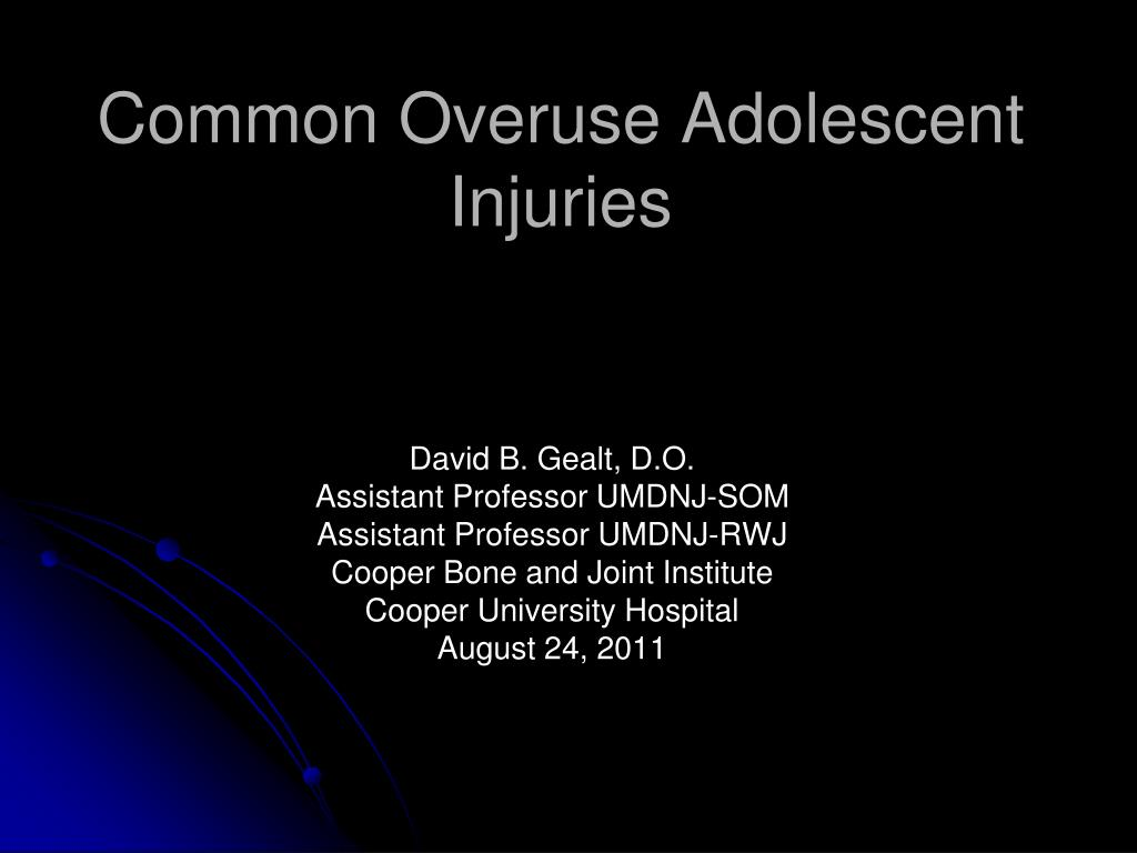 common overuse adolescent injuries l.