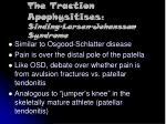 the traction apophysitises sinding larsen johansson syndrome