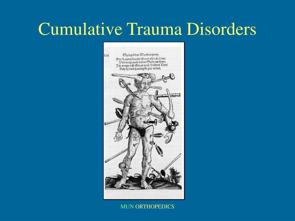 cumulative trauma disorders l.