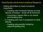 food density and animal functional response
