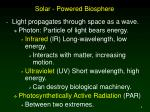 solar powered biosphere