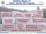 building blocks of public sector ee program