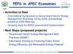 peps in apec economies