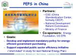 peps in china