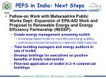 peps in india next steps