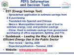 peps information and decision tools