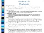 mountain taxi conclusions