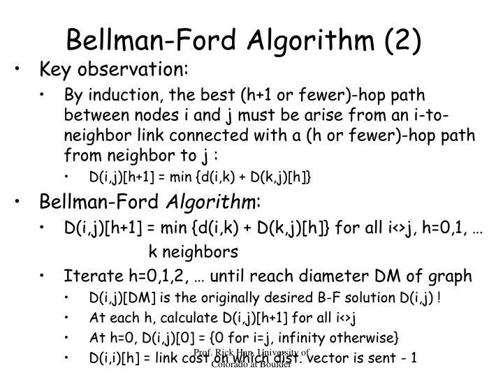 Bellman-Ford Algorithm (2)