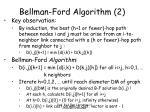 bellman ford algorithm 2