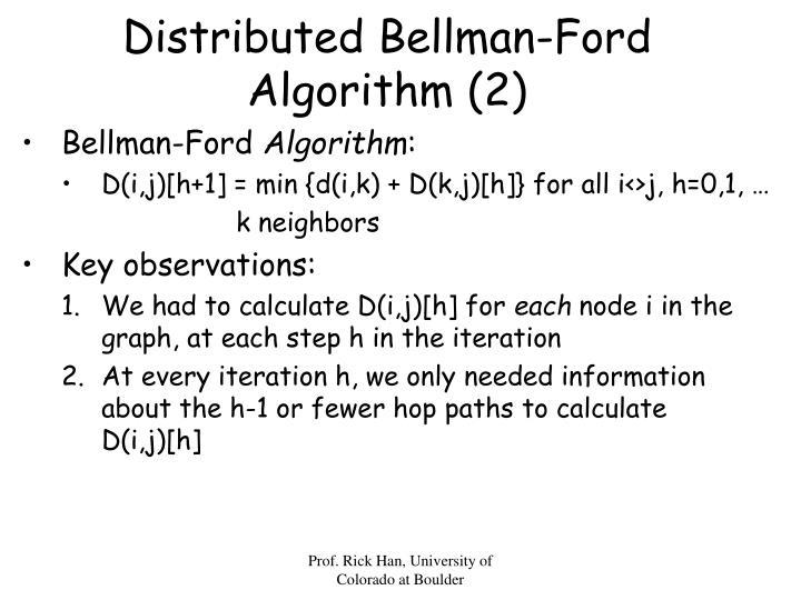 Distributed Bellman-Ford Algorithm (2)