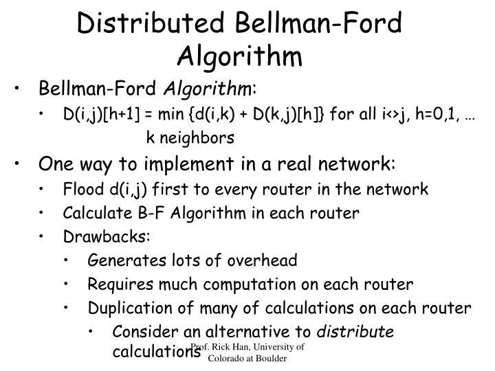 Distributed Bellman-Ford Algorithm