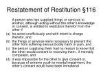 restatement of restitution 116