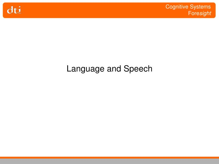 language and speech n.