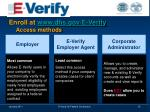 enroll at www dhs gov e verify access methods