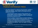 wrapping it up employer and employee videos