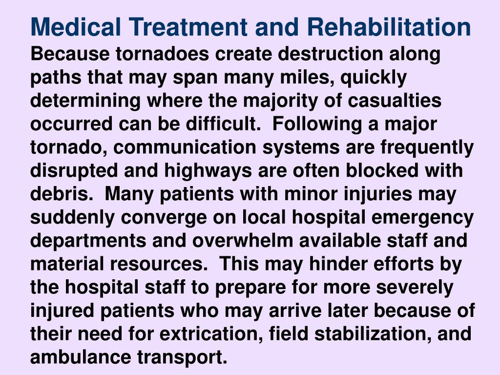 Medical Treatment and Rehabilitation