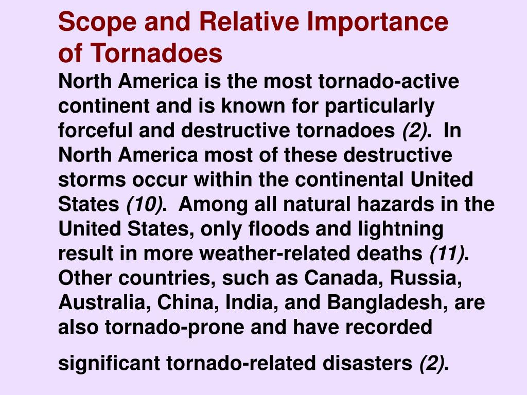 Scope and Relative Importance