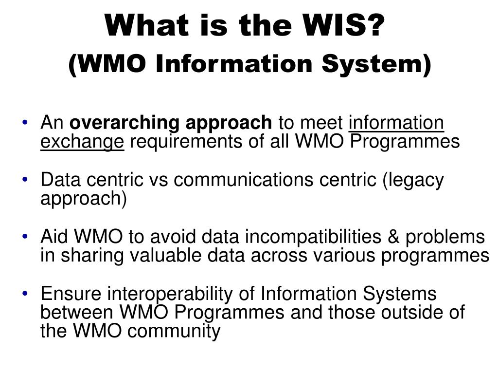 PPT - World Meteorological Organization Working together in