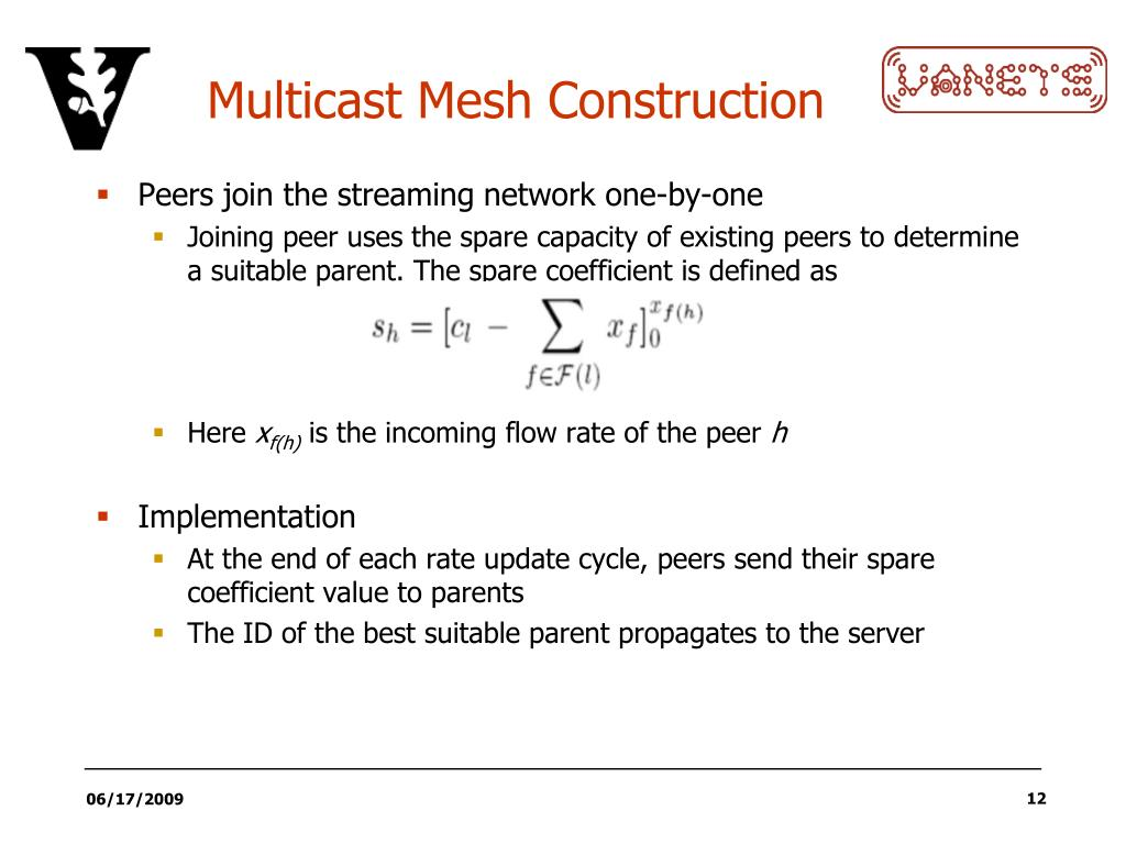 Multicast Mesh Construction