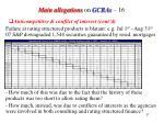 main allegations on gcras 16