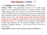 main allegations on gcras 17