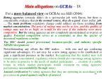 main allegations on gcras 18