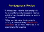 frontogenesis review
