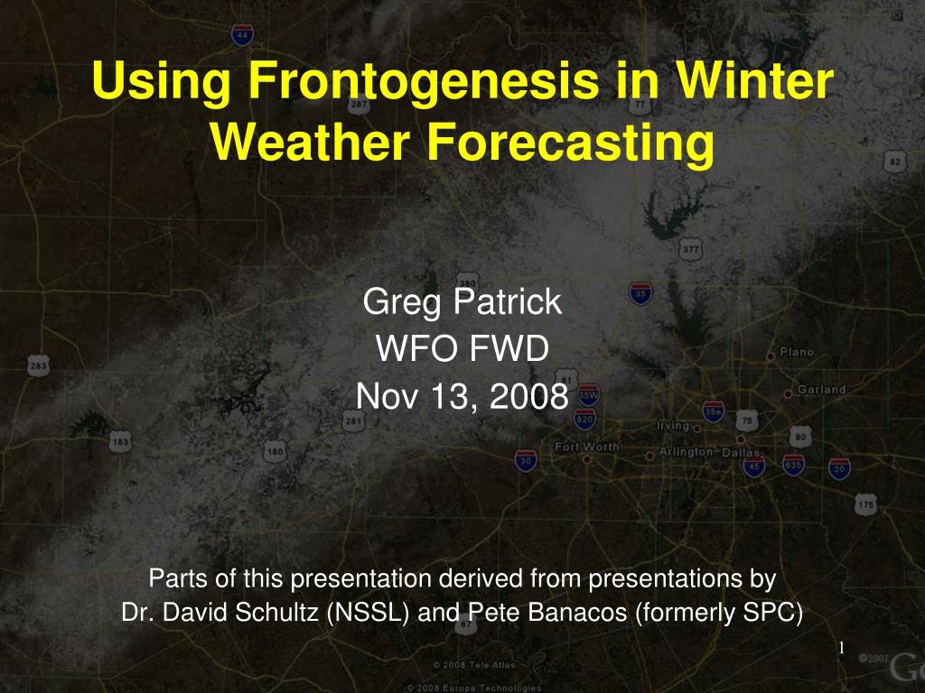 using frontogenesis in winter weather forecasting l.
