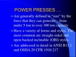 power presses3