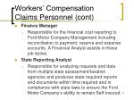 workers compensation claims personnel cont10