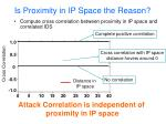 is proximity in ip space the reason