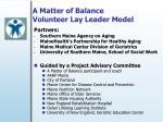 a matter of balance volunteer lay leader model