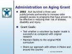 administration on aging grant